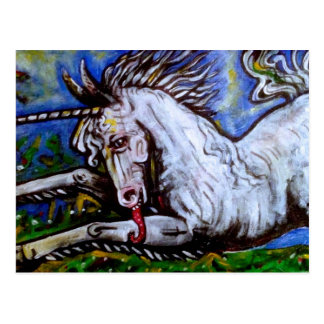 Cartão Postal Unicorn. de carregamento