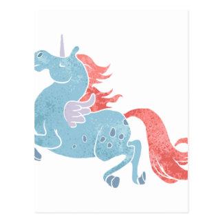 Cartão Postal Unicórnio Pegasus