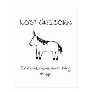 Cartão Postal Unicórnio perdido