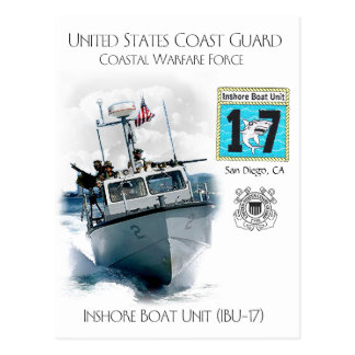 Cartão Postal Unidade costeira IBU-17 do barco de USCG