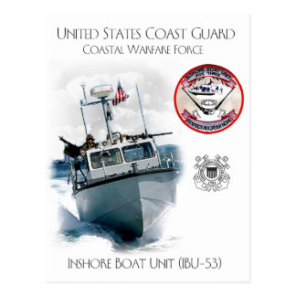 Cartão Postal Unidade costeira IBU-53 do barco de USCG