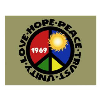 Cartão Postal Unidade da confiança do amor da paz da esperança