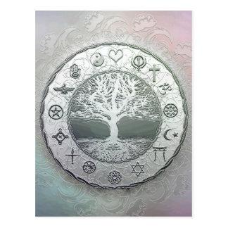 Cartão Postal Unidade da religião e do coração