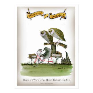 Cartão Postal unidade hostil do roedor de yorkshire do amor