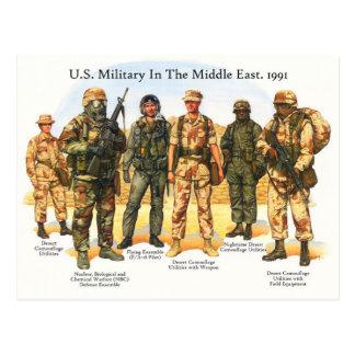 Cartão Postal Uniformes das forças armadas dos E.U. no Médio