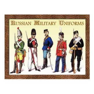 Cartão Postal Uniformes militares do russo