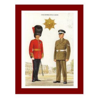Cartão Postal Uniformes militares do vintage, guardas de