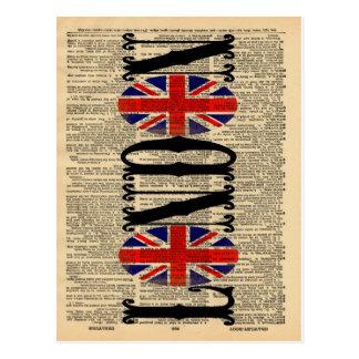 Cartão Postal Union Jack na página do dicionário