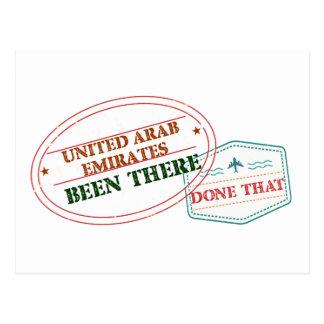 Cartão Postal United Arab Emirates feito lá isso