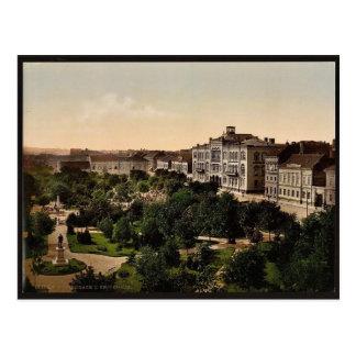 Cartão Postal Universidade, Belgrado, clássico Photochrom de