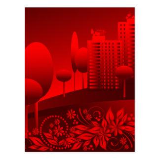 Cartão Postal urbano vermelho