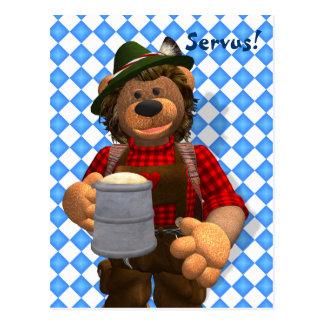 Cartão Postal Urso bávaro de Oktoberfest dos ursos Dinky