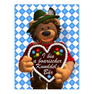 Cartão Postal Urso bávaro do afago dos ursos Dinky