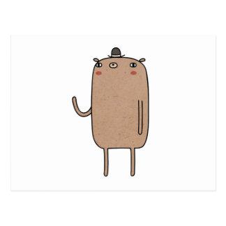 Cartão Postal Urso com chapéu