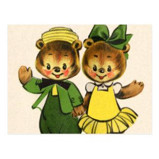 Cartão Postal Urso de Billy e de Betty