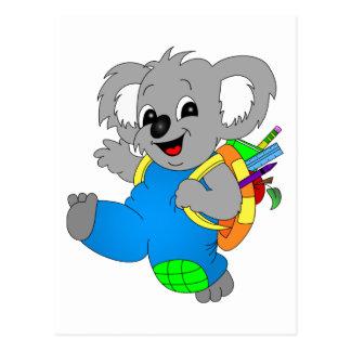 Cartão Postal Urso de Koala com trouxa