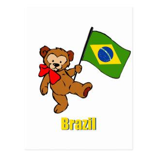 Cartão Postal Urso de ursinho de Brasil