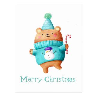 Cartão Postal Urso de ursinho do Natal