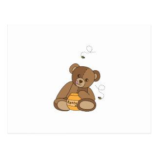 Cartão Postal Urso e mel de ursinho