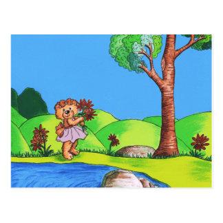 Cartão Postal Urso feminino
