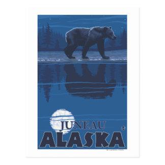 Cartão Postal Urso no luar - Juneau, Alaska