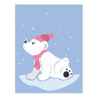 Cartão Postal Urso polar