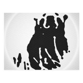 Cartão Postal Urso polar no cinza