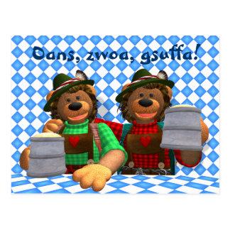Cartão Postal Ursos bávaros de Oktoberfest dos ursos Dinky
