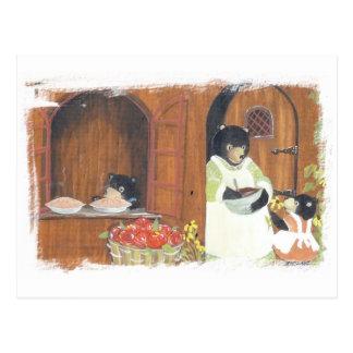 Cartão Postal Ursos do dia do cozimento
