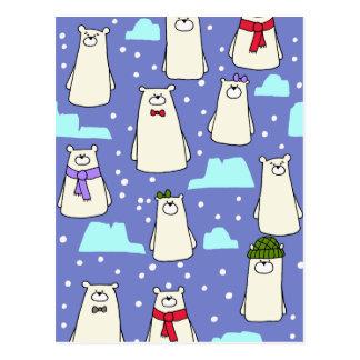 Cartão Postal ursos polares