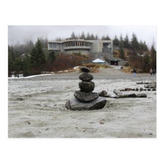Cartão Postal USA - Alaska - Juneau - Mendenhall & Inukshuk