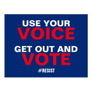 Cartão Postal Use sua voz saem e o voto resiste