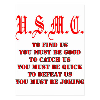 Cartão Postal USMC para encontrar a captura ou derrotar-nos