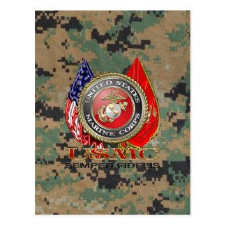 Cartão Postal USMC Semper Fi [edição especial] [3D]