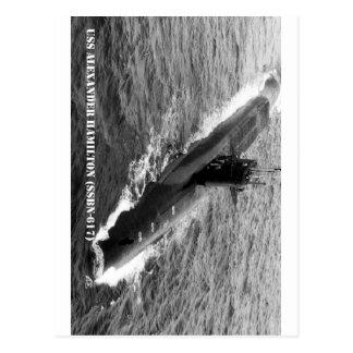 CARTÃO POSTAL USS ALEXANDER HAMILTON