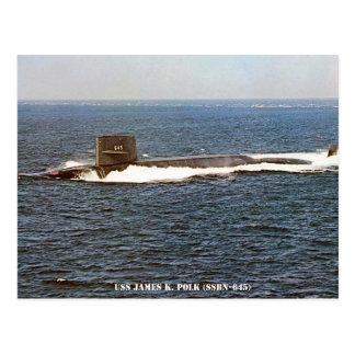 CARTÃO POSTAL USS JAMES K. POLK