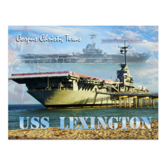 Cartão Postal USS Lexington (CV-16), Corpus Christi, Texas