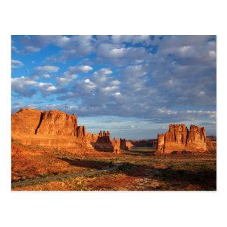 Cartão Postal Utá, parque nacional dos arcos, formações de rocha