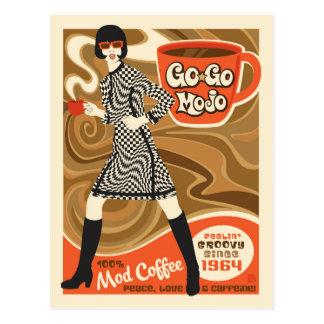 Cartão Postal Vá vão café de Mojo