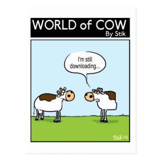 Cartão Postal Vaca da transferência