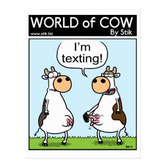 Cartão Postal Vaca de Texting