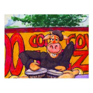 Cartão Postal Vaca do jazz