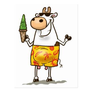 Cartão Postal Vaca do verão