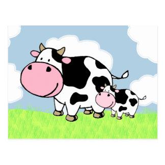 Cartão Postal Vaca e bebê