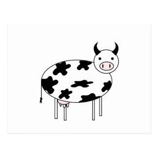 Cartão Postal Vaca ilustrada