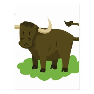 Cartão Postal vaca na grama