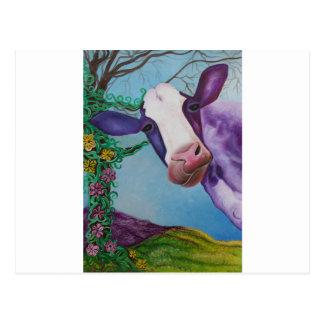 Cartão Postal Vaca roxa