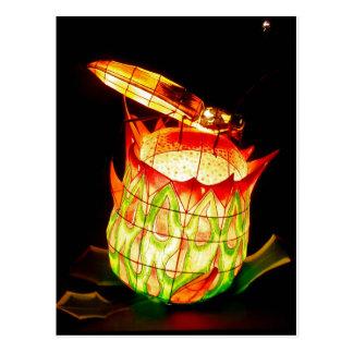 Cartão Postal Vaga-lume do festival de lanterna da queda