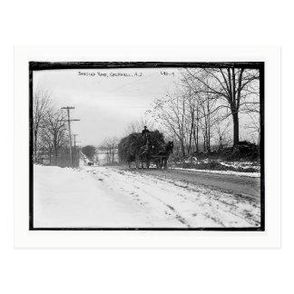 Cartão Postal Vagão do feno, estrada do Bobsled, Caldwell,