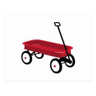 Cartão Postal Vagão vermelho